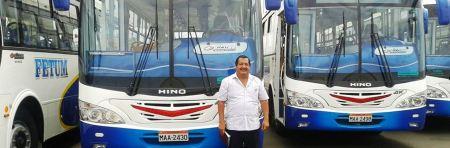 Nuevos autobuses para la ruta 17 del trnasporte urbano de Manta, Ecuador.