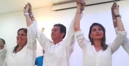 Rector y vicerrectoras de la Uleam de Manta, Ecuador.
