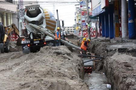 Regeneración de la Calle 13 de Manta. Manabí, Ecuador.