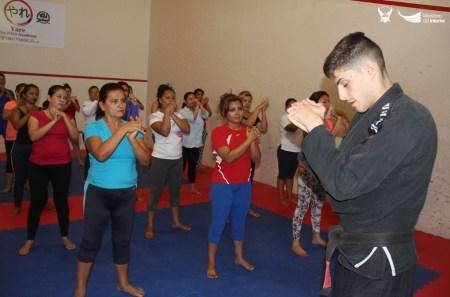 Clase de jiu-jitsu para mujeres, Manta. Manabí, Ecuador.
