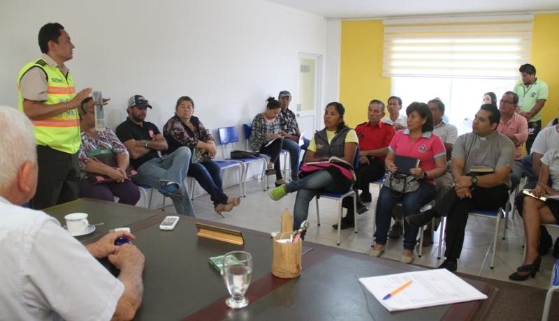 Sesión del COE cantonal de Bolívar. Manabí, Ecuador.