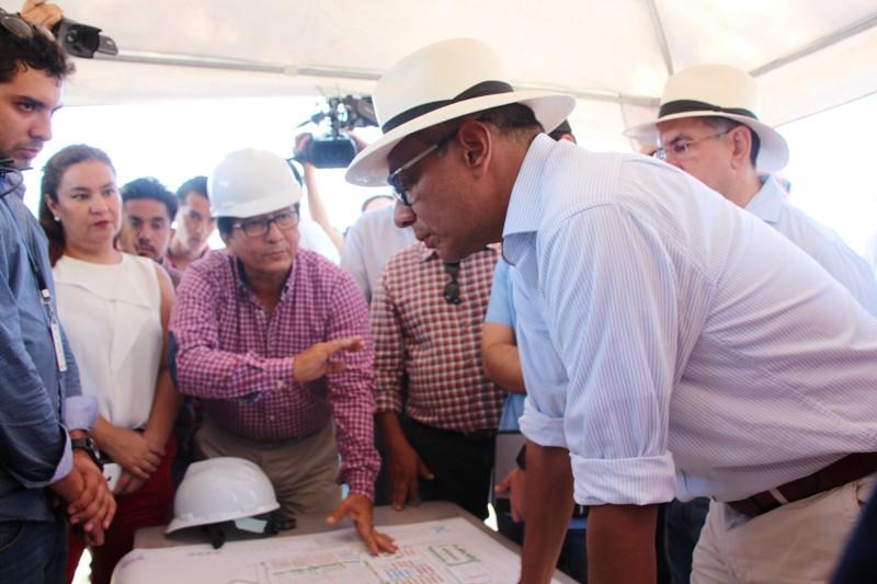 Vicepresidente ecuatoriano Jorge Glas durante una visita en Manta. Manabí, Ecuador.