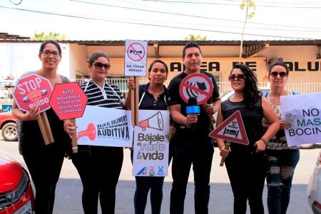 Campaña callejera contra el ruido, Manta. Manabí, Ecuador.