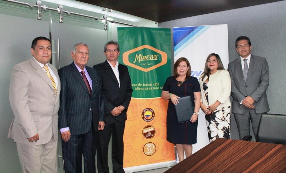 Firma convenico factoring electrónico CFN-Café Minerva, Quito.