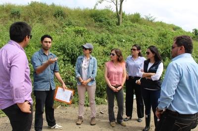 Técnicos del GAD Jaramijó y del Banco del Estado. Manabí, Ecuador.