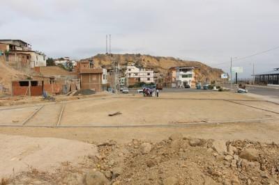 Parque recreativo en construcción, Parroquia San Mateo de Manta. Manabí, Ecuador.