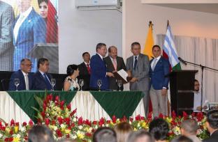 Homenaje de la Asamblea del Ecuador.