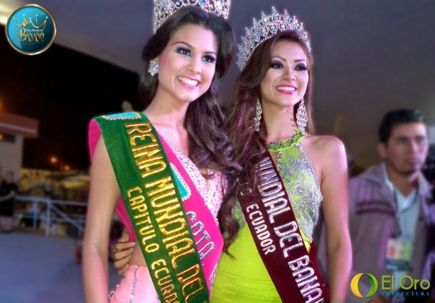En Machala, después de ganar el título de Reina Mundial del Banano, capítulo Ecuador.