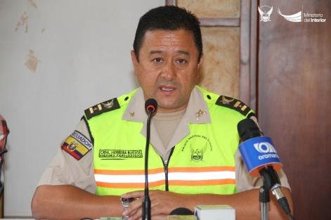 Coronel Henry Herrera, jefe encargado de la subzona policial de Manabí.