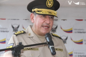 Diego Mejía, comandante general de la Policía ecuatoriana. Manabí, Ecuador.