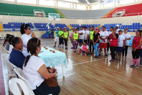 Acto inaugural del primer torneo de goalball en la ciudad de Manta.
