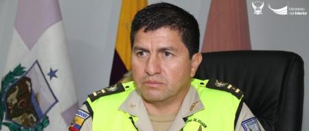 Coronel Luis Chica, comandante del distrito policial de Manta.