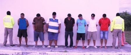 Banda delictiva detenida en Portoviejo. Manabí, Ecuador.