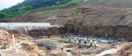 Constuyen bases de planta potabilizadora de agua para Montecristi. Manabí, Ecuador.