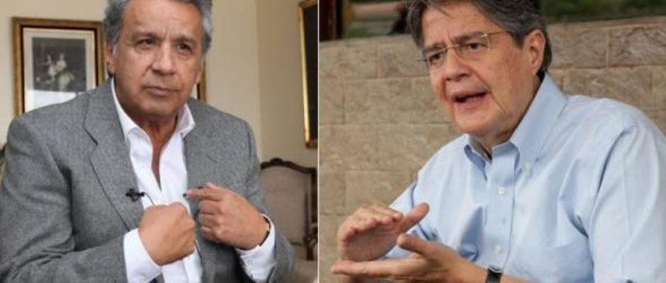 Lenín Moreno (izq.) y Guillermo Lasso, candidatos a presidente de la República del Ecuador. FOTO: Banco de imágenes de Google.