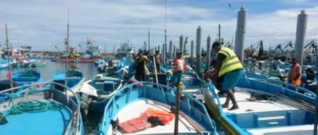 Atracadero del Puerto Pesquero de Jaramijó. Manabí, Ecuador.