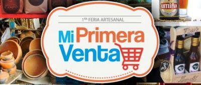 Logotipo de la feria artesanal Mi primera venta. Manabí, Ecuador.