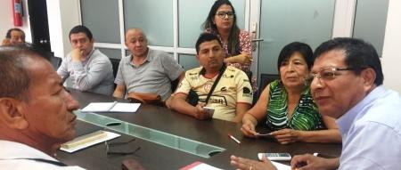 Junta Cívica de Colorado coordina con el alcalde de Montecristi, Ricardo Quijije, el programa inaugural del alcantarillado sanitario de la parroquia. Manabí, Ecuador.