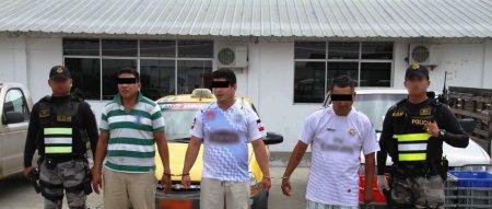 Personas detenidas en Portoviejo por la Operación Barranco de la Policía Nacional. Manabí, Ecuador.