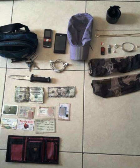 Evidencias de robo en Barrio Jocay, 2