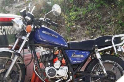 Evidencias de robo en Barrio Jocay, motocicleta