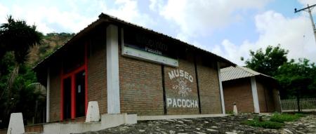 Vista exterior del Museo Pacocha, que guarda vestigios de la Cultura Manteña. Manabí, Ecuador.