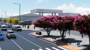 Un detalle de la Avenida 113 (simulación arquitectónica).