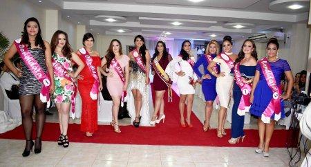 Candidatas a Reina de Chone 2017. Manabí, Ecuador.