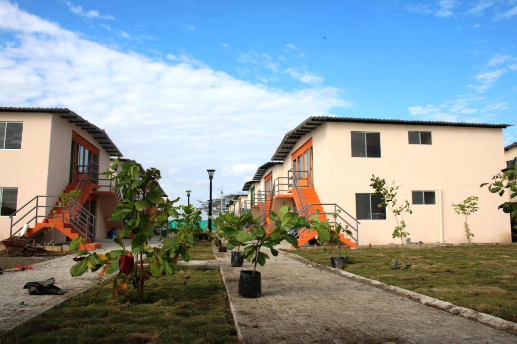 Aspecto general del plan habitacional Ciudad Jardín, en Pedernales. Manabí, Ecuador.