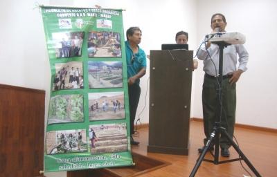 José Quijije propone al Concejo municipal de Montecristi un proyecto de huertos familiares urbanos. Manabí, Ecuador.