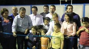El acto inaugural, presidido por el alcalde Jorge Zambrano Cedeño.