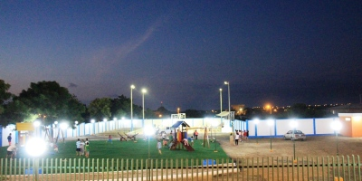 El nuevo parque recreativo del Barrio Villamarina de Manta. Manabí, Ecuador.