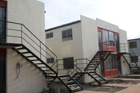 Casas listas para alojar a sus destinatarios.