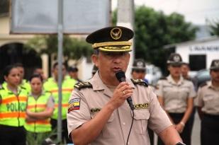 El panegírico de homenaje lo pronunció el coronel Geovanni Ponce, comandante de la subzona policial de Manabí.