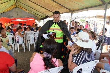 Divirtiendo a familias de la provincia de Manabí.