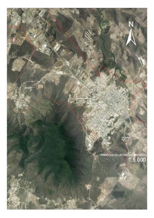 Mapa Montecristi central