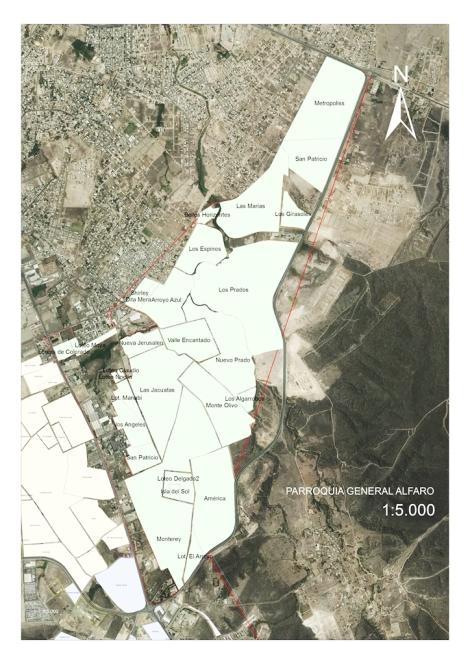Mapa Parroquia General Alfaro