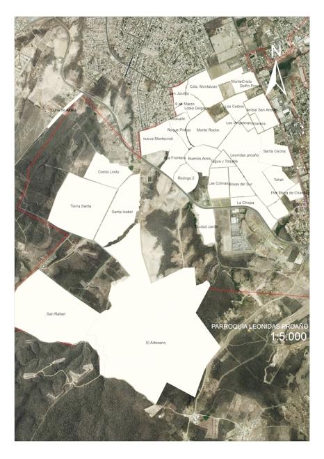 Mapa Parroquia Leonidas Proaño