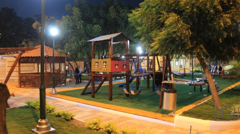 El área de juegos destinada a los niños.