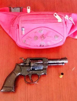 Armas de fuego decomisadas por la Policía Nacional en Manabí.