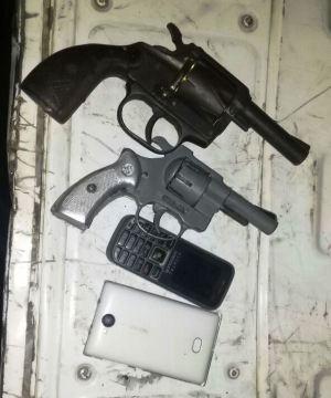 Armas de fuego decomisadas en Jipijapa.