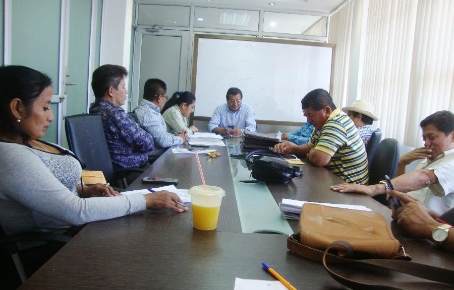 Reunión de la corporación municipal de Montecristi, que acaba de aprobar dos ordenanzas muy importantes para el desarrollo del cantón.