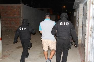 Uno de los bandoleros detenidos.