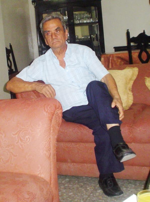 John Cuadros Pazmiño en su casa de Flavio Alfaro.