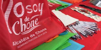 Recuerdos de la promoción turística del GAD municipal de Chone.