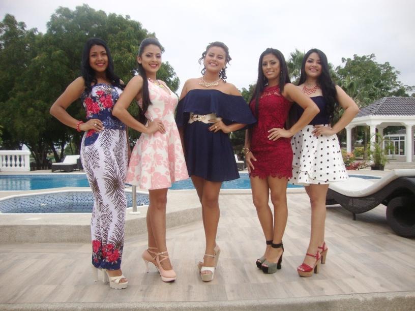 Candidatas 2017 a reina de Montecristi, durante su presentación ante periodistas en el Montecristi Golf Club y Villas. Manabí, Ecuador.