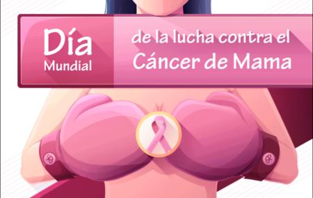 Composición gráfica sobre la conmemoración del Día Mundial de la lucha contra el Cáncer de Mama.
