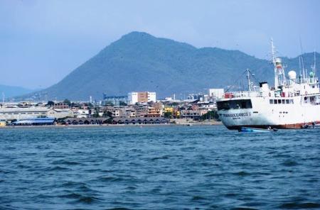 Perfil costero de la Parroquia Urbana Tarqui, Manta. Manabí, Ecuador.