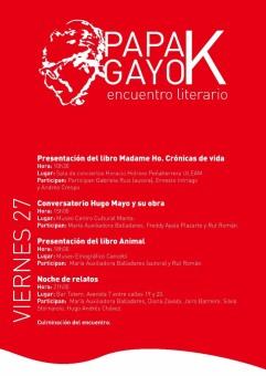 Programa del día viernes 27 de octubre.