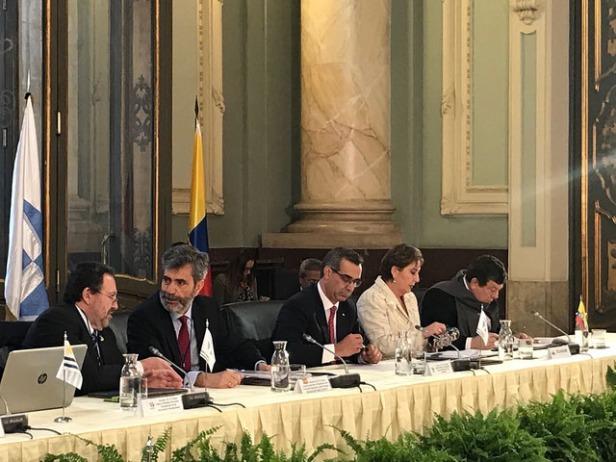 Gustavo Jalkh preside la reunión preparatoria de la XIX Cumbre Judicial Iberoamericana, en Madrid, España.